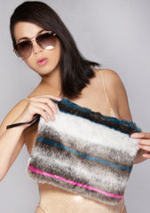 Rabbit Faux Fur Clutch Handbag
