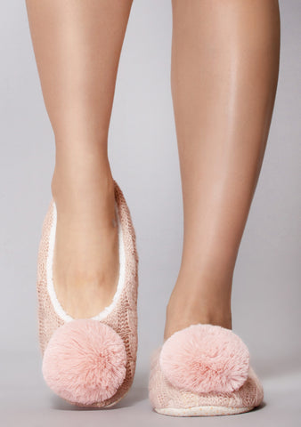 Slay Belle Pom Knit Slippers