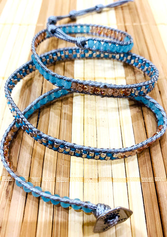 X Katie Soleil Grace Triple Wrap Beaded Bracelet