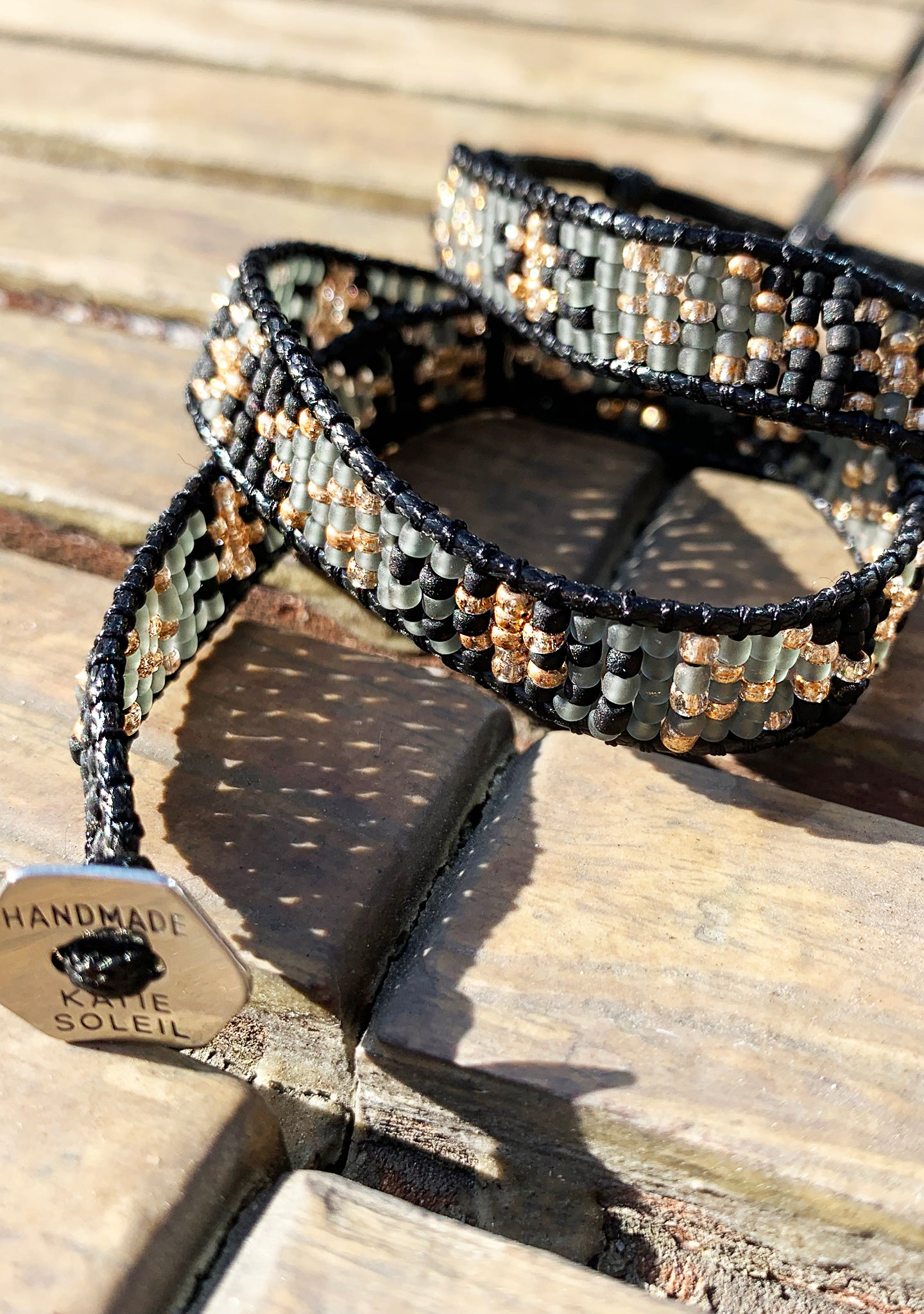 X Katie Soleil Savannah Double Wrap Beaded Bracelet