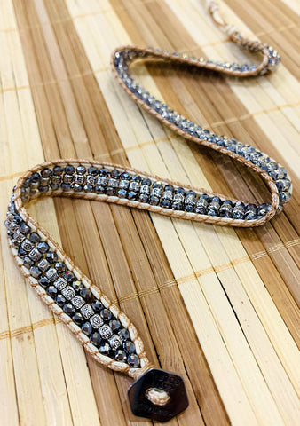 X Katie Soleil Skyline Double Wrap Beaded Bracelet