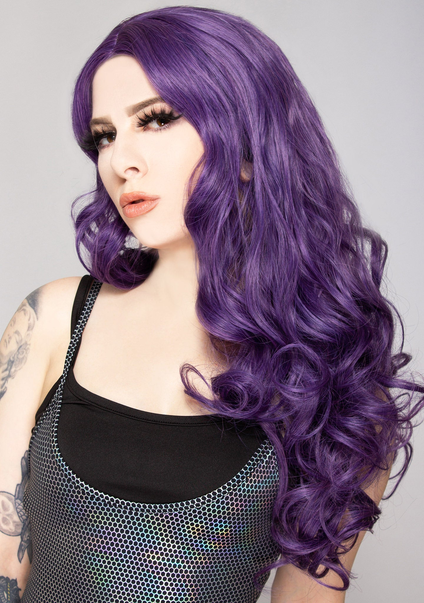 Mermaid Wave Long Wig in Purple