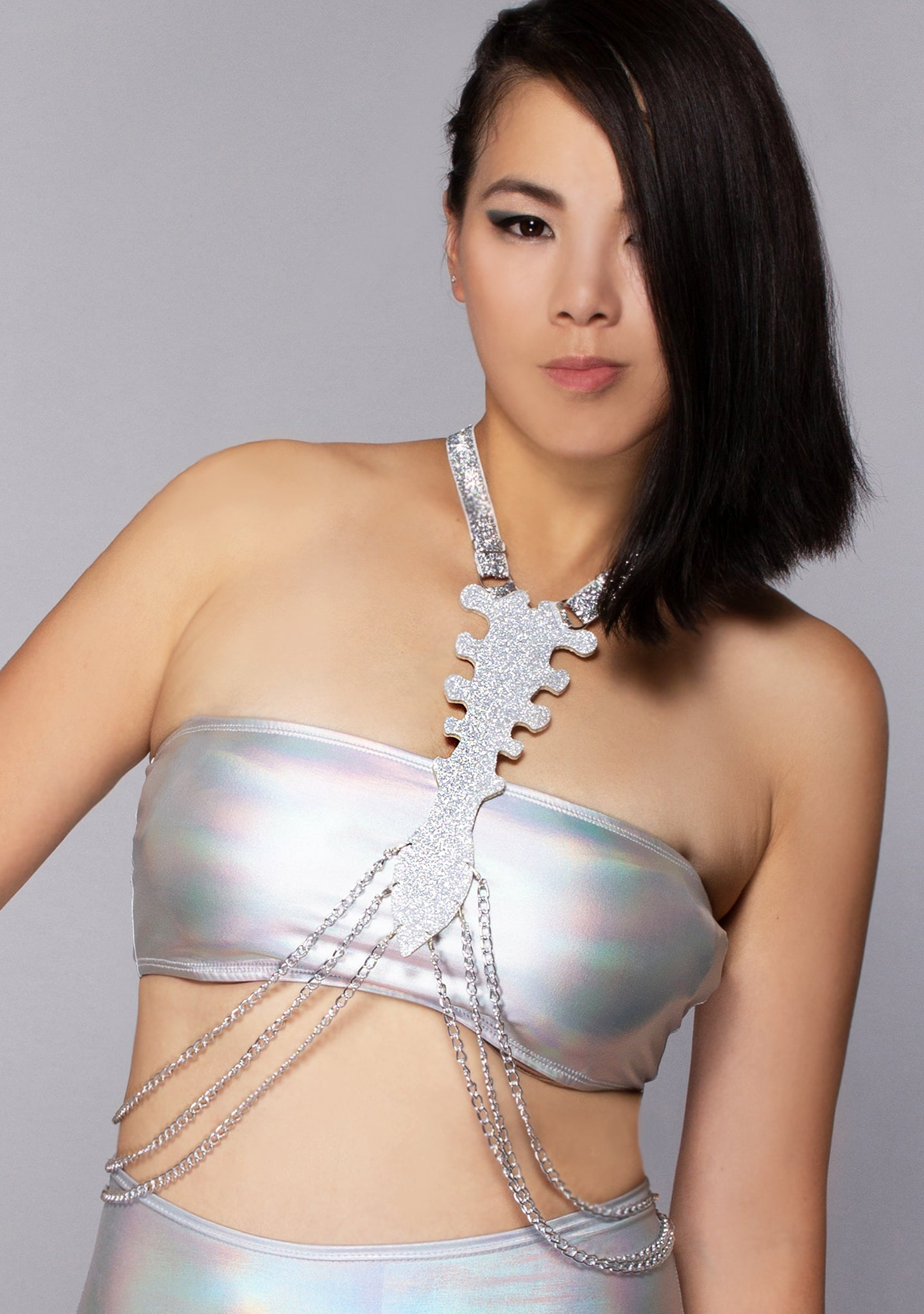 Glittering Skeleton Body Harness
