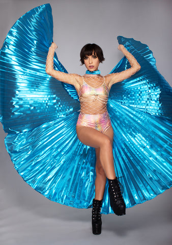 Goddess 360 Degree Pleated Halter Isis in Blue