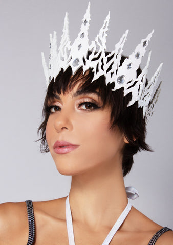 Ice Queen Glitter Crown