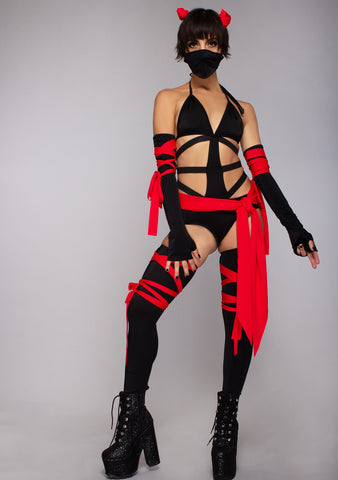 Killer Ninja Bodysuit 6PC Set