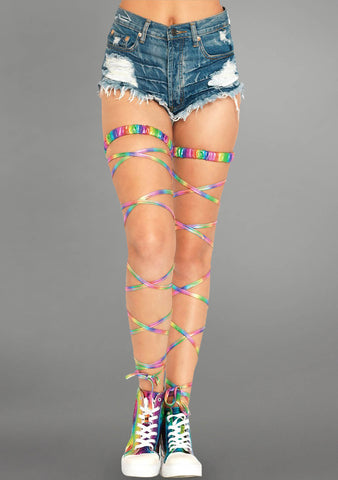 Garter Leg Wrap in Rainbow