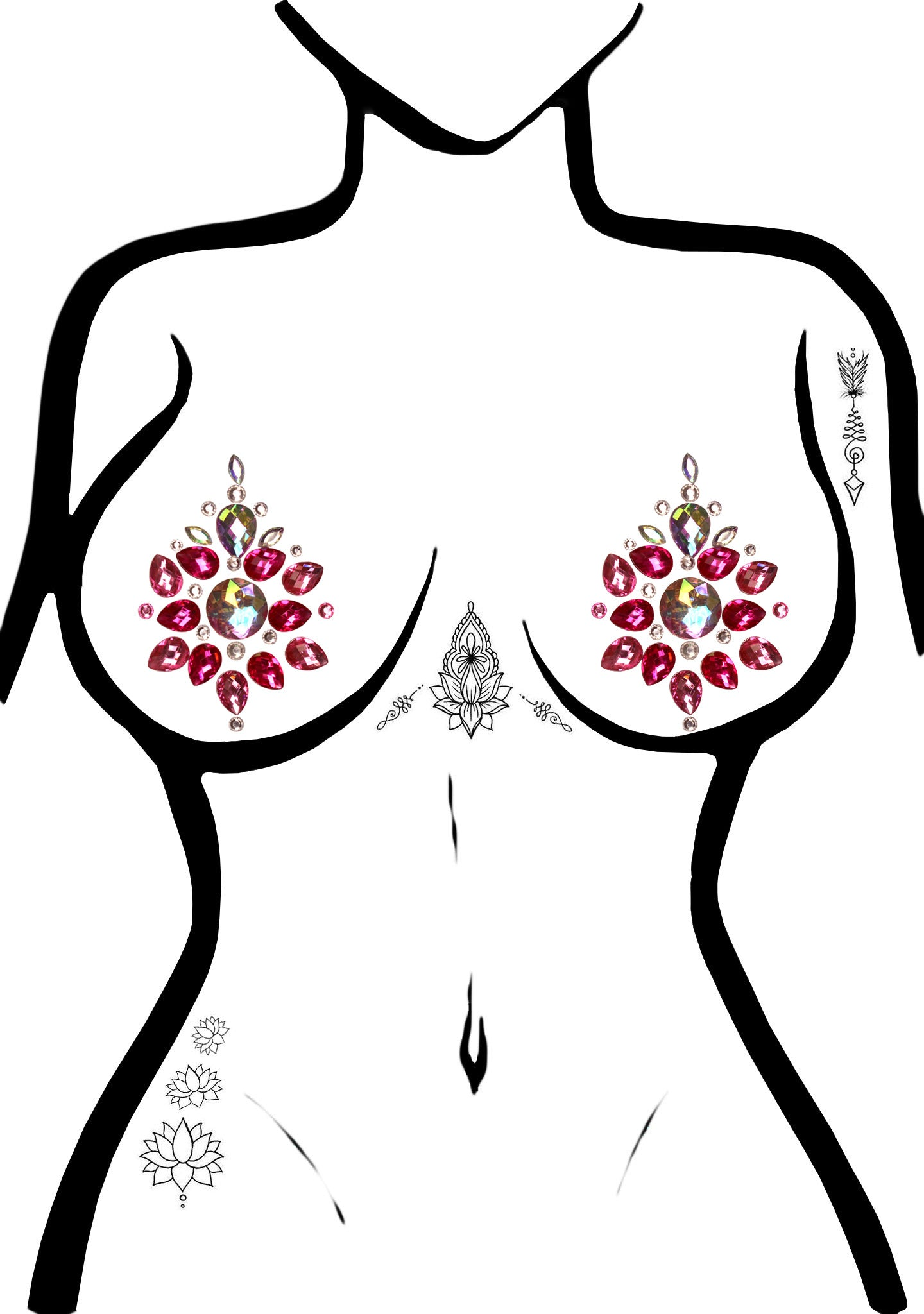 Phoenix Jeweled Nipple Pasties