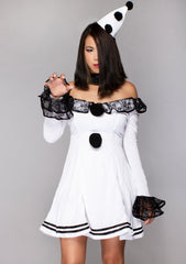 Pierrot Lace Clown 3PC Set
