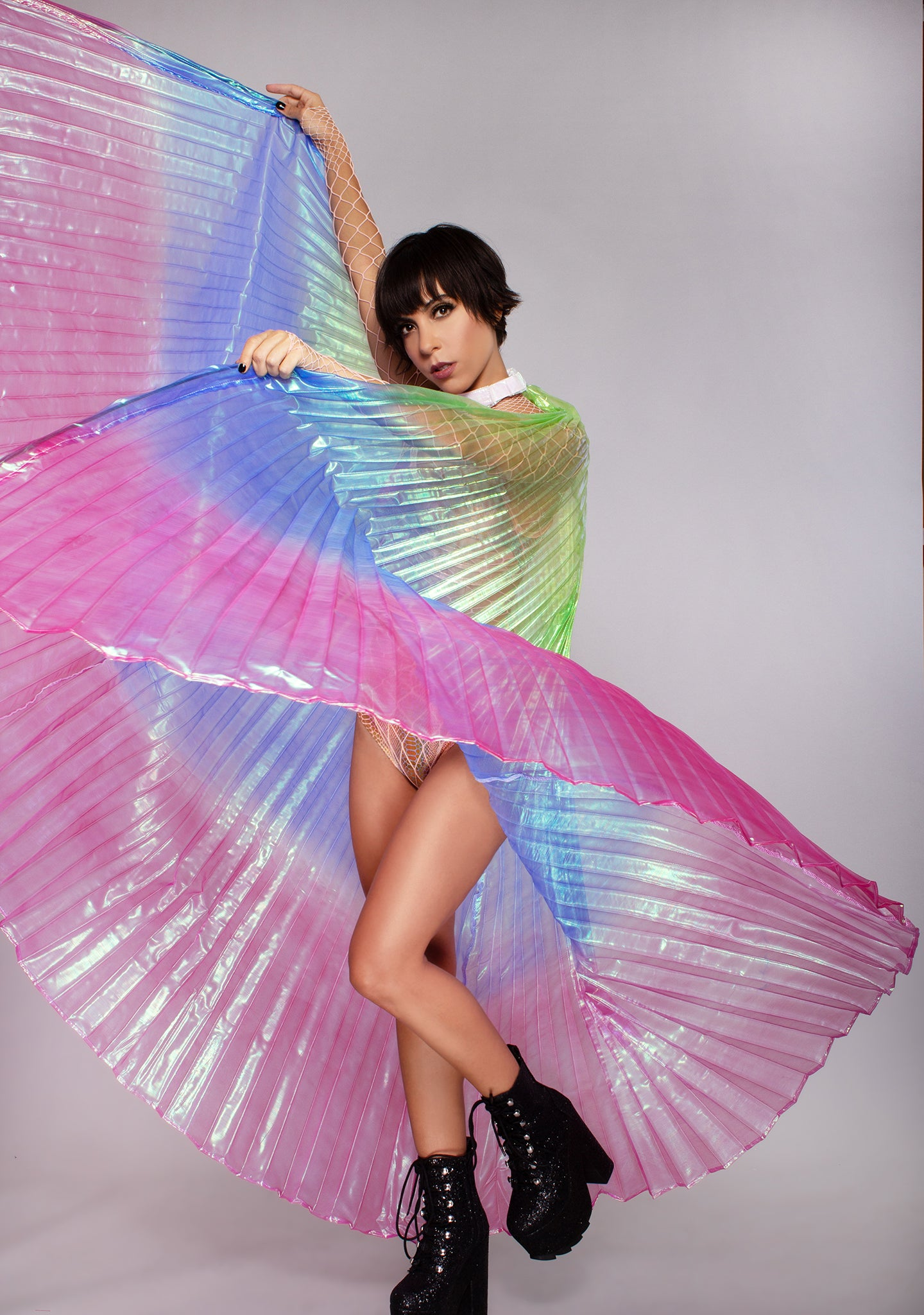 Psychedelic 360 Degree Pleated Halter Isis