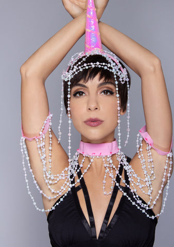 Showgirl Unicorn 2PC Headband and Shoulder Harness