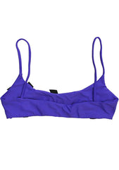 Lolli Swim Tiny Bows Bralette Wowzers Bikini Top in Purple
