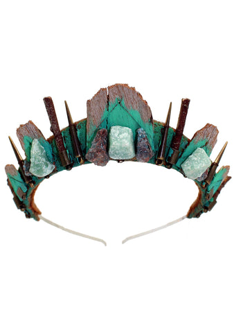 Loschy Mermaid Eucalyptus Crown in Green