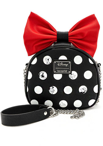 X Disney Minnie Polka Big Red Bow Crossbody Bag