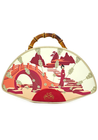 X Disney Mulan Bamboo Fan Crossbody Bag