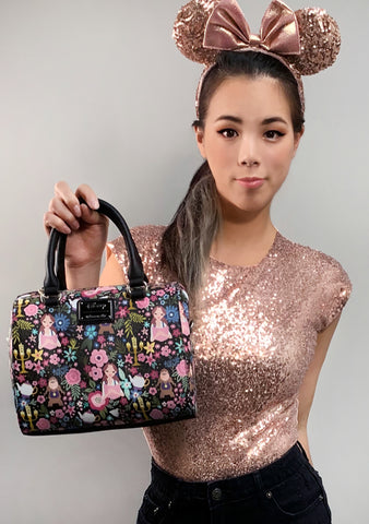 X Disney Beauty and the Beast Character Floral Duffle Bag