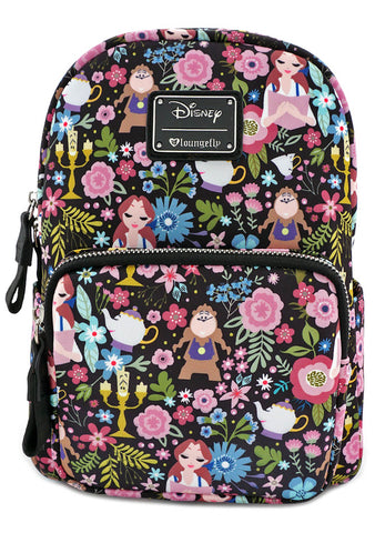 X Disney Beauty and the Beast Character Floral Mini Backpack
