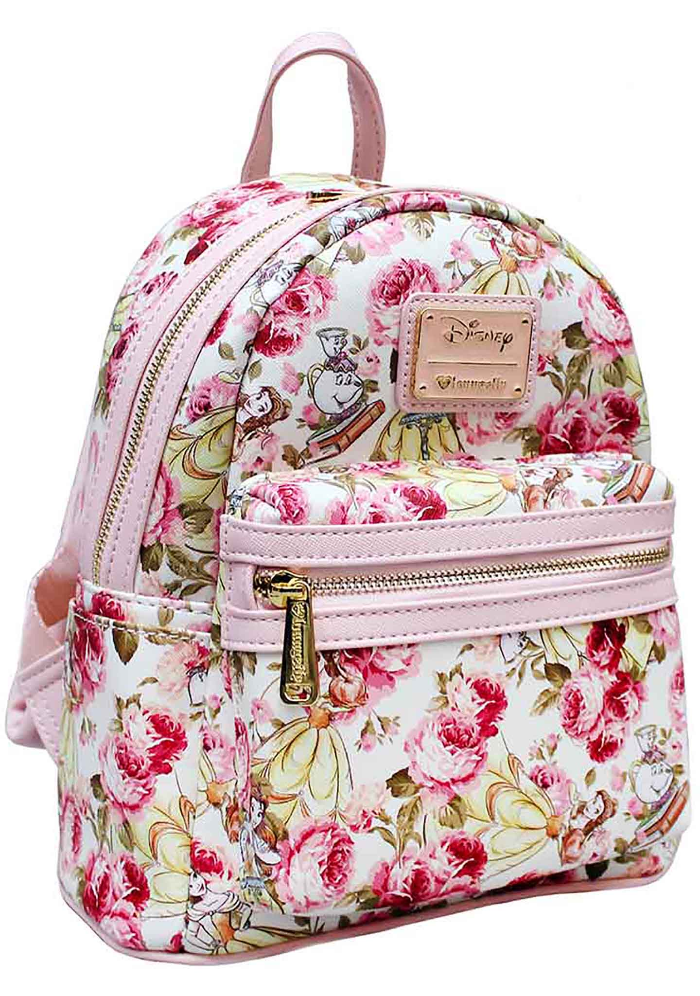 Loungefly X Disney Belle Floral AOP Mini Backpack