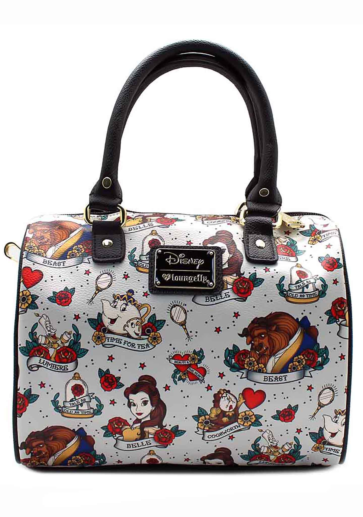 LOUNGEFLY   Shop Loungefly X Disney Belle Tattoo Duffle Bag at ... 8361525f0e