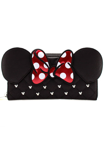 X Disney Minnie Bow Zip Wallet
