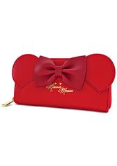 X Disney Minnie Ears Zip Wallet in Red