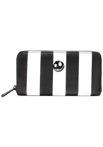 X Nightmare Before Christmas Striped Zip Wallet