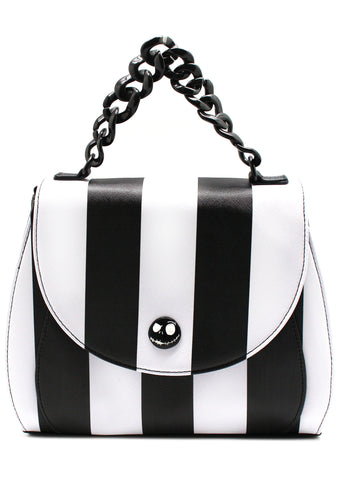 X Nightmare Before Christmas Striped Saddle Crossbody Bag