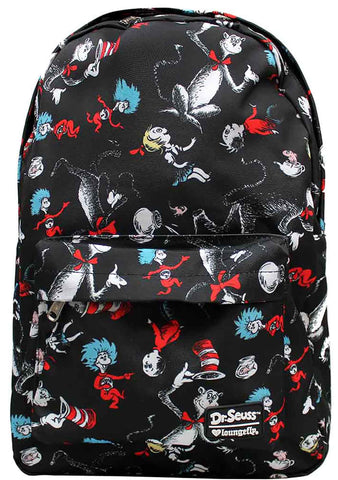 Loungefly X Dr. Seuss Cat In The Hat Characters Backpack