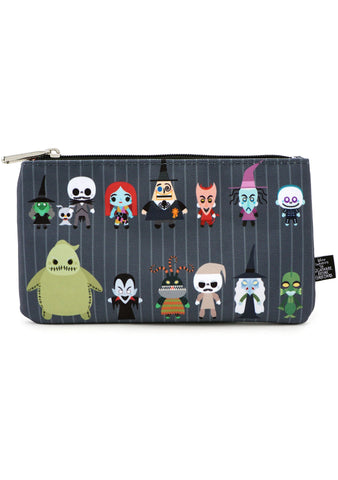 X Nightmare Before Christmas Chibi Zip Pouch
