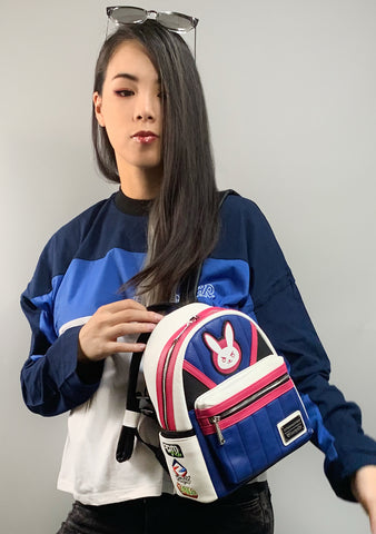 X Overwatch D. Va Cosplay Mini Backpack