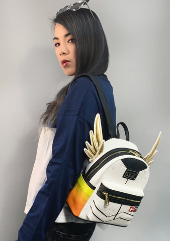 X Overwatch Mercy Cosplay Mini Backpack