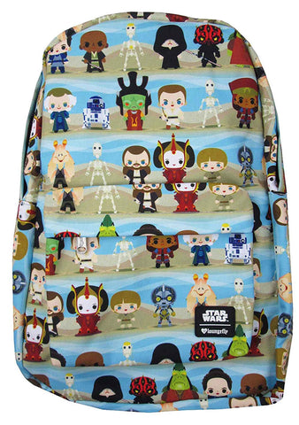 X Star Wars Phantom Menace Chibi Character AOP Backpack