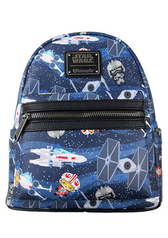 X Star Wars Chibi Ships AOP Mini Backpack