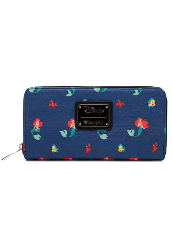 X Disney Ariel & Friends Zip Wallet