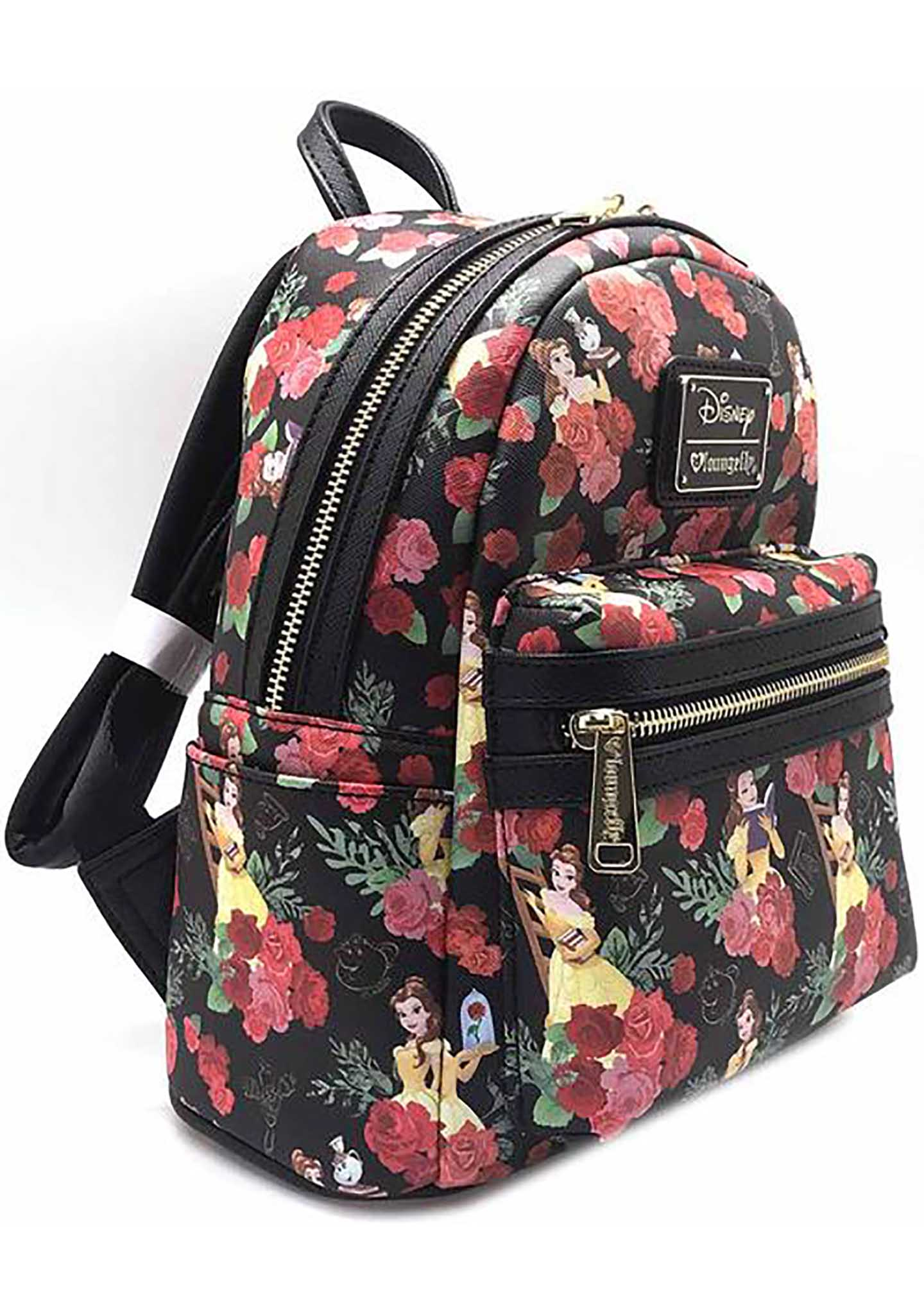 468abe0de71 Loungefly X Disney Belle Roses AOP Mini Backpack