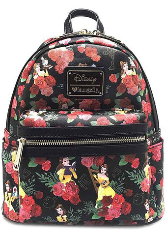 X Disney Belle Roses AOP Mini Backpack