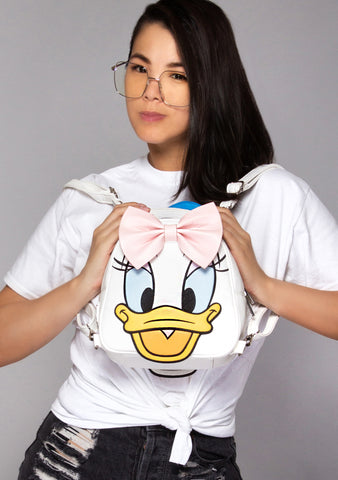 X Disney Donald and Daisy Double Sided Mini Backpack