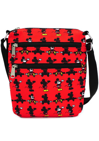X Disney Mickey Parts AOP Nylon Passport Bag