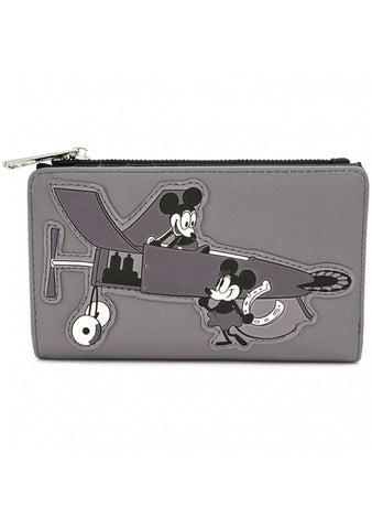 X Disney Mickey Plane Crazy Wallet