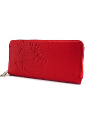 X Disney Minnie Debossed Zip Wallet