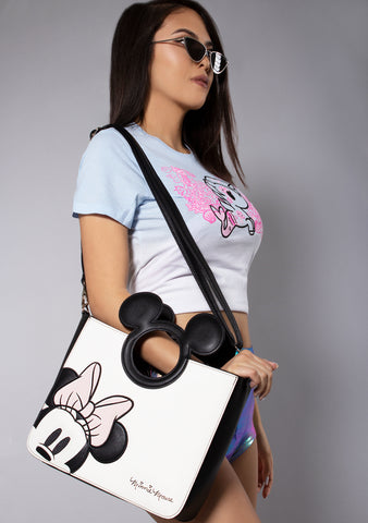 X Disney Minnie Die Cut Crossbody Bag