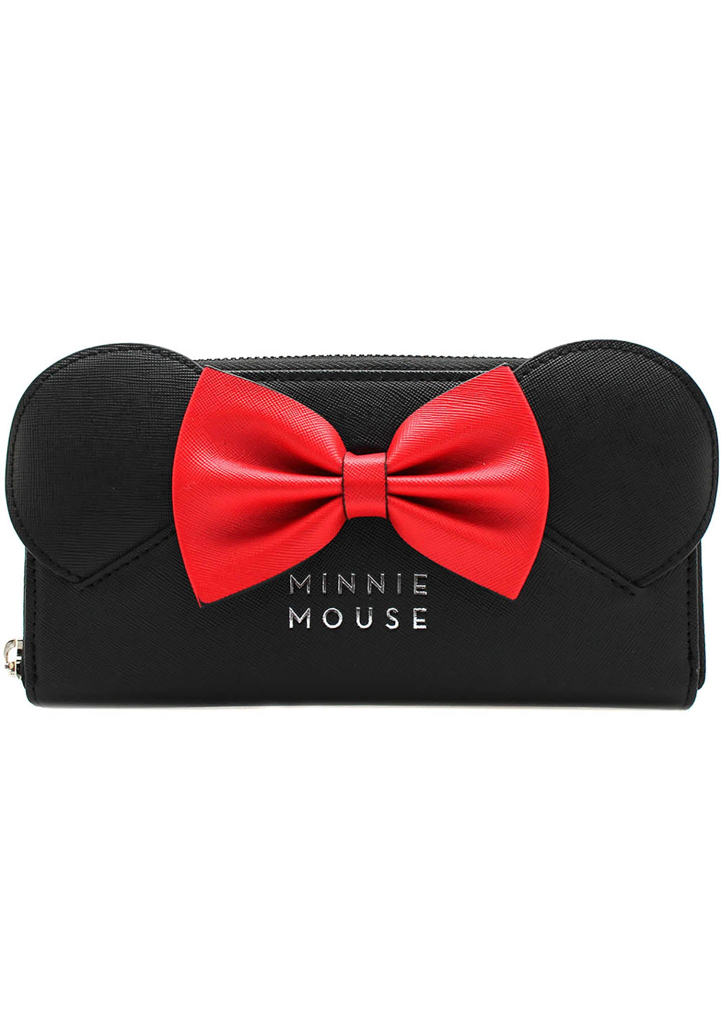 x Disney Minnie Saffiano Bow Zip Wallet