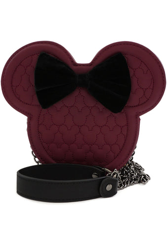 X Disney Minnie Mouse Quilted Silhouette Head Crossbody Bag