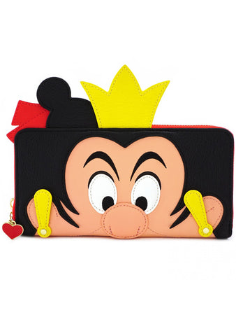 X Disney Queen of Hearts Cosplay Zip Wallet