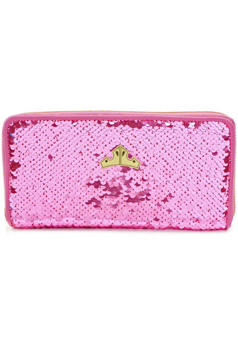X Disney Sleeping Beauty Reversible Sequin Zip Wallet