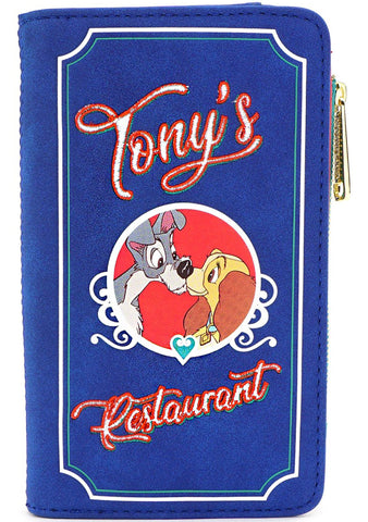 X Disney The Lady and the Tramp Tony's Menu Wallet
