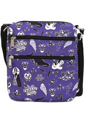 X Disney Villain Icons AOP Nylon Passport Bag