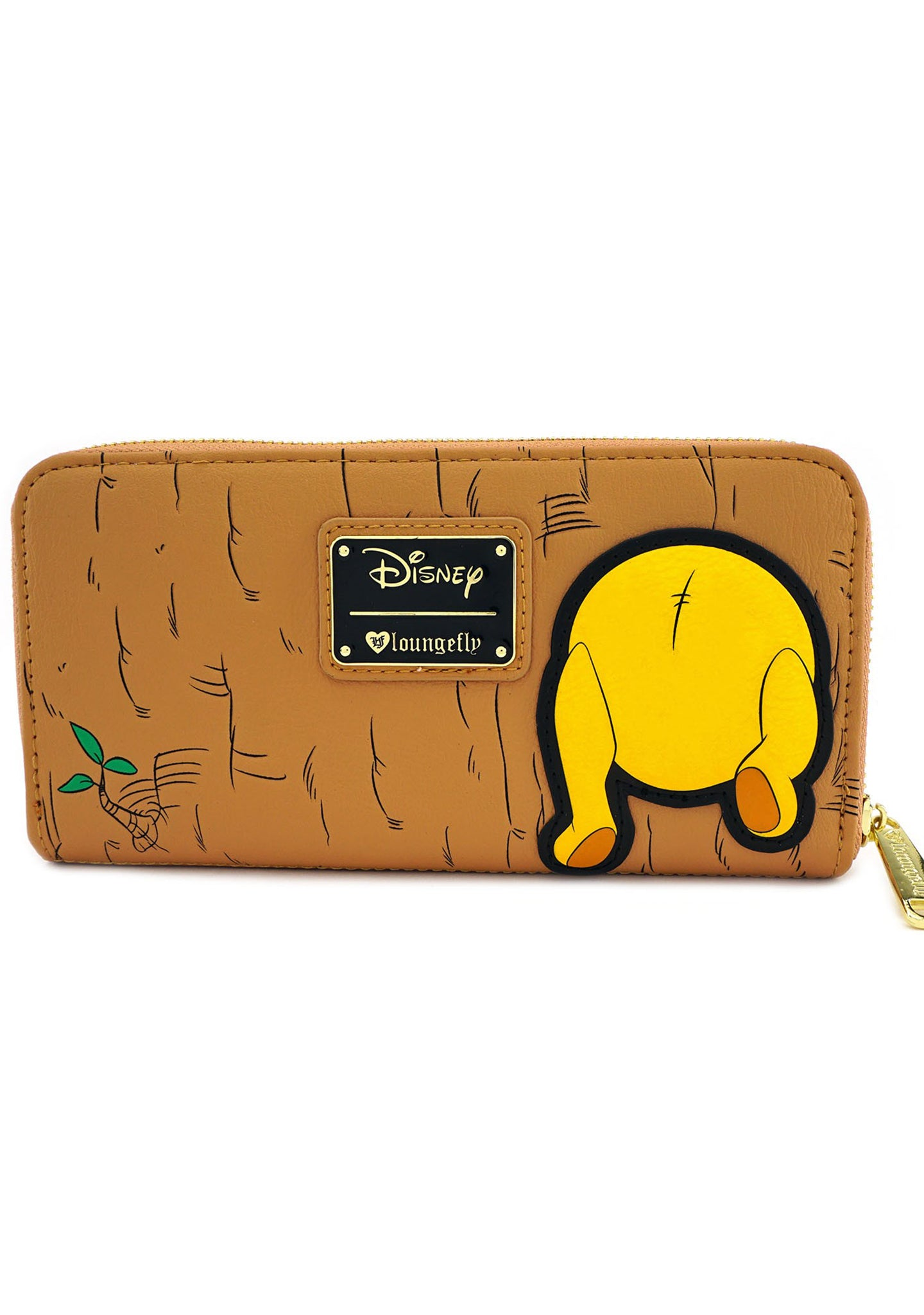 X Disney Winnie the Pooh Front and Back Zip Wallet