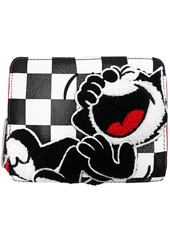 X Felix The Cat Checkered Small Wallet