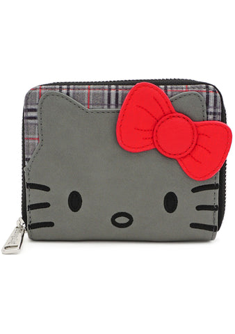 X Hello Kitty Plaid Zip Around Wallet